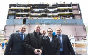 Fincantieri and Princess Cruises launched the bow section