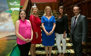 REPRO FREE 12/07/2018, Leicestershire – Twenty-five (25) top British meetings and events professionals enjoyed a taste of Ireland at a recent 'Ireland Meets the Midlands' event in Leicestershire. The B2B event saw the buyers meet, and do business with, some 25 tourism businesses from across the island of Ireland. 'Ireland Meets the Midlands' was organised by Tourism Ireland in conjunction with Fáilte Ireland and Tourism NI, to grow business tourism from Britain to the island of Ireland.  PIC SHOWS: Stefanie Meachin, TravelOptions; Karen Brosnahan. Shannon Convention Bureau; Joyce McElroy, Tourism Ireland; Helen Ellis, Avid Events; and David Wood, Tourism Ireland), at an 'Ireland Meets the Midlands' event in Leicestershire. Pic – Tourism Ireland (no repro fee) Further press info – Sinéad Grace, Tourism Ireland 087 685 9027