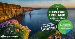 August 2018 - Tourism Ireland has teamed up with dnata Travel, one of the biggest travel companies in the Middle East, to grow visitor numbers from the UAE to the island of Ireland. The campaign includes ads on radio and social platforms – highlighting an attractive Ireland package price and reminding potential visitors that a visa is no longer required for UAE nationals travelling to Ireland. Further media information: Sinéad Grace, Tourism Ireland  087-685 9027