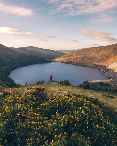 REPRO FREE  01/10/2018, Lough Tay – One of the most popular travel influencers in France, Bruno Maltor, has been visiting Ireland this week – as a guest of Tourism Ireland, Fáilte Ireland and B&B Ireland.Bruno has around 417,000 followers on social platforms (including Facebook, Instagram, Twitter and YouTube) and his blog, Votre Tour du Monde, has around 2 million unique visitors each month. PIC SHOWS: French travel influencer, Bruno Maltor visitng Lough Tay, Co Wicklow. Pic – Bruno Maltor (no repro fee) Further press info – Sinéad Grace, Tourism Ireland 087-685 9027